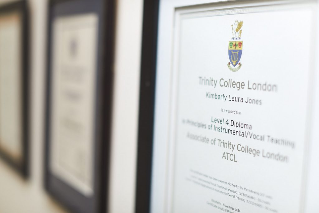 Blenheim Piano Teacher - Kimberly Jones - ATCL Trinity College Certificate